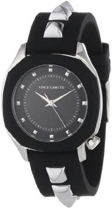 Vince Camuto Women's VC/5107BKBK Stainless Steel Watch with Resin Band
