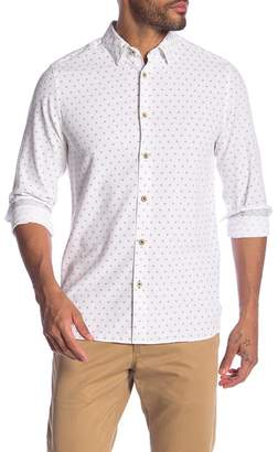 Ted Baker Ilensky Micro Diamond Trim Sport Shirt