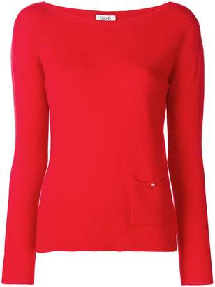 Liu Jo boat neck sweater