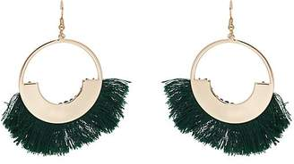 Kenneth Jay Lane WOMEN'S FRINGE-TIPPED DROP EARRINGS