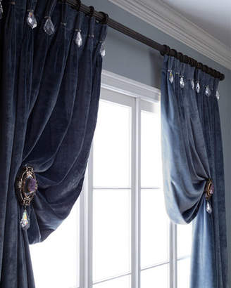 "Parker 6009 120""L Velvet Curtain with Asfour Crystals"