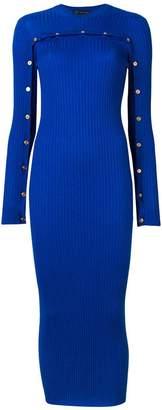 Versace ribbed knit midi dress
