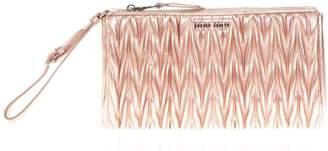 Miu Miu Rose Matelasse' Leather Clutch