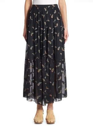 Chloé Paisley Lurex Jacquard Skirt