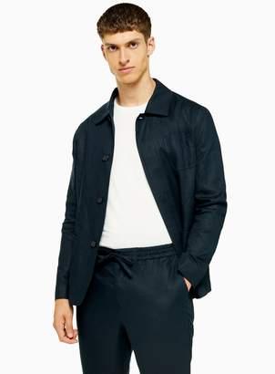 TopmanTopman SELECTED HOMME Navy Slim 'Summer' Linen Jacket