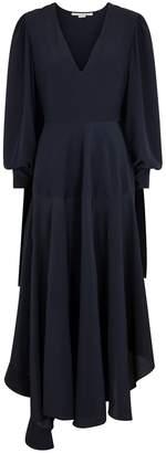 Stella McCartney Navy Silk Crepe De Chine Dress
