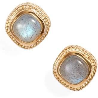 Anna Beck Semiprecious Stone Cushion Stud Earrings