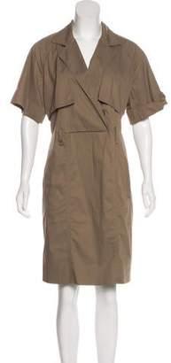 Lela Rose Short Sleeve Knee-Length Dress