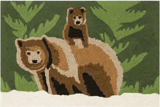 Liora Manné Liora Manne' Front Porch Indoor/Outdoor Bear Family Forest 2' x 3' Area Rug