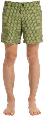 Palm Printed Nylon Swim Shorts
