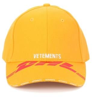 Vetements Embroidered cotton twill cap