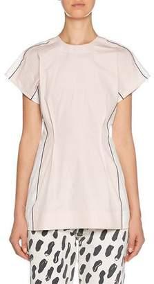Marni Short-Sleeve Two-Tone Shirt