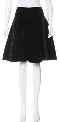 Alaia Glitter Velvet Knee-Length Skirt