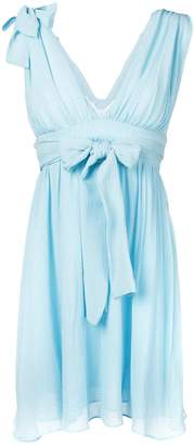Pinko Robinia bow tie flared dress