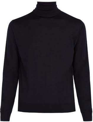 Prada - Roll Neck Wool Sweater - Mens - Navy