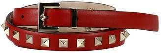 Valentino GARAVANI Belt Adjustable Rockstud Spike Belt 1.5cm Wide