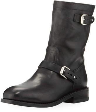 Rag & Bone Oliver II Buckled Lamb-Leather Moto Boot