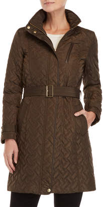 Cole Haan Quilted Belted Trench Coat