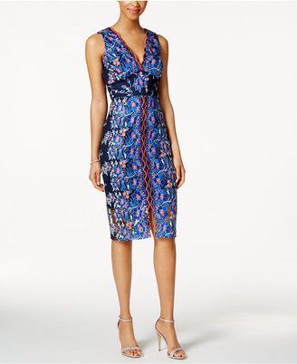 Jax Embroidered Floral Sheath Dress $178 thestylecure.com