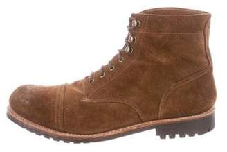 Grenson Distressed Suede Combat Boots w/ Tags