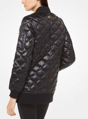 MICHAEL Michael Kors Quilted-Satin Bomber Jacket