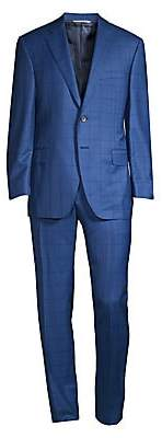 Canali Men's Windowpane Wool Suit