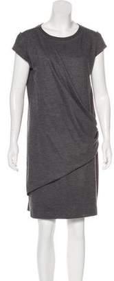 Brunello Cucinelli Wool Draped Dress