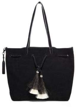 Loeffler Randall Double Handle Drawstring Suede Tote