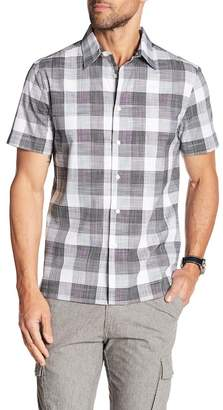 Perry Ellis Plaid Short Sleeve Slim Fit Shirt