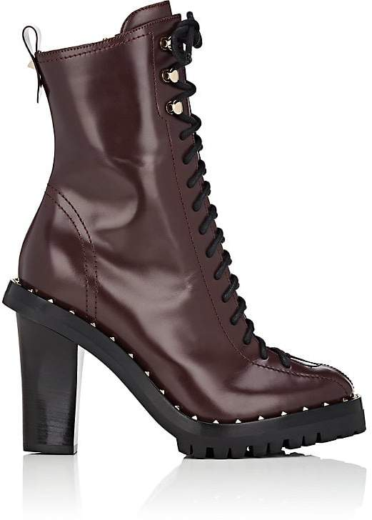 Valentino Garavani Women's Soul Rockstud Leather Ankle Boots