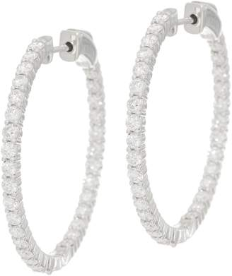 Affinity Diamond Jewelry Diamond Hoop Earrings, 14K Gold, 2.75 cttw by Affinity