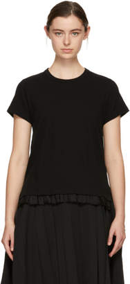 Comme des Garcons Black Ruffled Hem T-Shirt