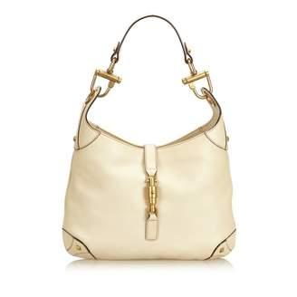 Gucci Hobo White Leather Handbag