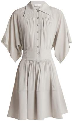 Chloé Point-collar silk shirtdress