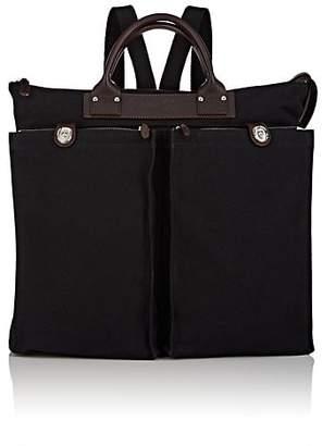 Felisi Men's Convertible Leather-Trimmed Canvas Tote Bag - Black