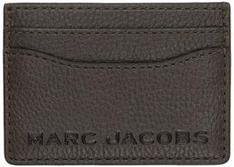 Marc Jacobs Brown The Textured Tag Card Holder