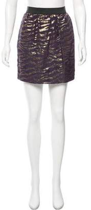 3.1 Phillip Lim Metallic Animal Print Skirt