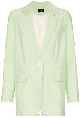 N. Duo Single button cotton blend blazer