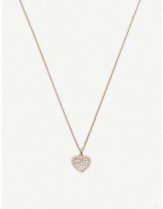 Rosegold BUCHERER JEWELLERY Infinite Love 18ct rose-gold diamond pendant necklace