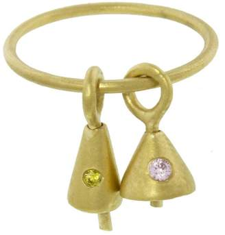 Ileana Makri EYE M by Pink and Yellow Zircon Bell Ring