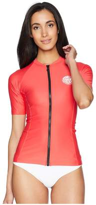 Rip Curl Belle Zip Through Short Sleeve Top Women's Swimwear