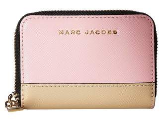 Marc Jacobs Saffiano Metal Letters Mini Zip Card Case Credit card Wallet