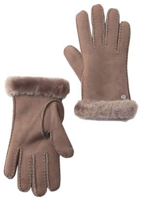 UGG Genuine Sheepskin Fur Slim Side Vent Gloves