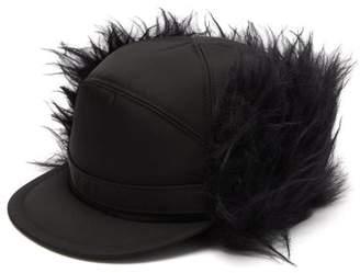 Prada Mohair Blend Trapper Nylon Hat - Mens - Black
