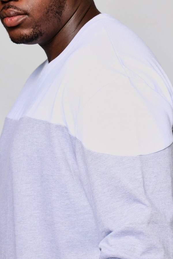 boohoo Big And Tall Colour Block Sweater