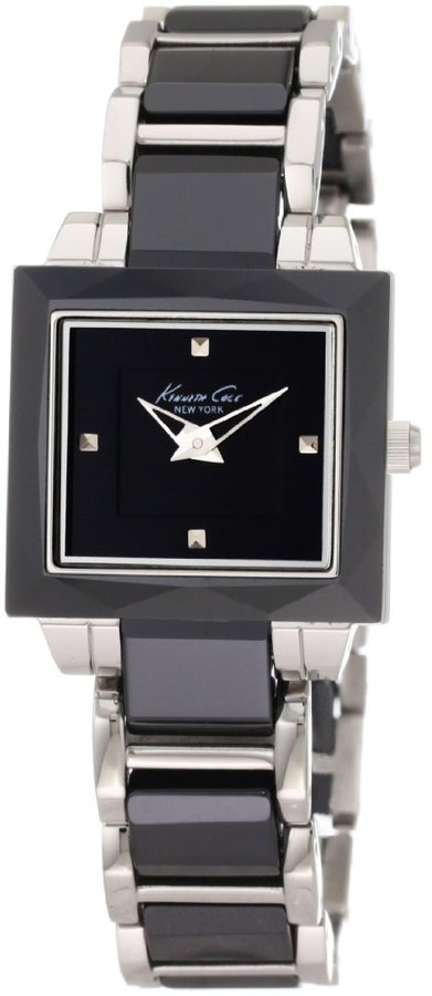 Kenneth Cole New York Women's KC4742 Petite Chic Classic Square Case with Ceramic Bezel Watch
