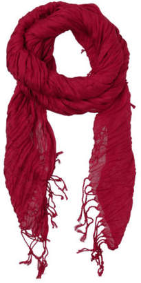 Basque NEW BC62S Crinkle Scarf W18 Burgundy