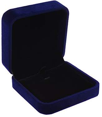 Cosmos ® Royal / Dark / Deep Blue Color Velvet Necklace Pendant Gift Box/Jewelry Box
