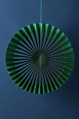 Anthropologie Glittered Paper Fan