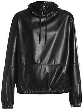 MSGM Women's Faux Leather Hoodie